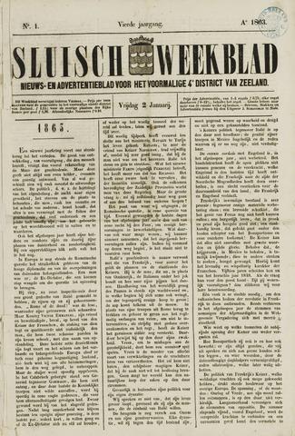 Sluisch Weekblad. Nieuws- en advertentieblad voor Westelijk Zeeuwsch-Vlaanderen 1863