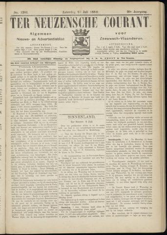 Ter Neuzensche Courant. Algemeen Nieuws- en Advertentieblad voor Zeeuwsch-Vlaanderen / Neuzensche Courant ... (idem) / (Algemeen) nieuws en advertentieblad voor Zeeuwsch-Vlaanderen 1880-07-10