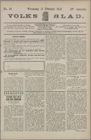 Volksblad 1922-02-15