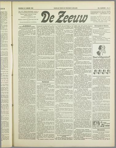 De Zeeuw. Christelijk-historisch nieuwsblad voor Zeeland 1934-01-22