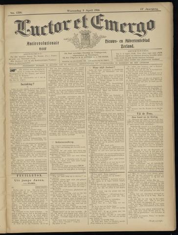 Luctor et Emergo. Antirevolutionair nieuws- en advertentieblad voor Zeeland / Zeeuwsch-Vlaanderen. Orgaan ter verspreiding van de christelijke beginselen in Zeeuwsch-Vlaanderen 1916-04-05