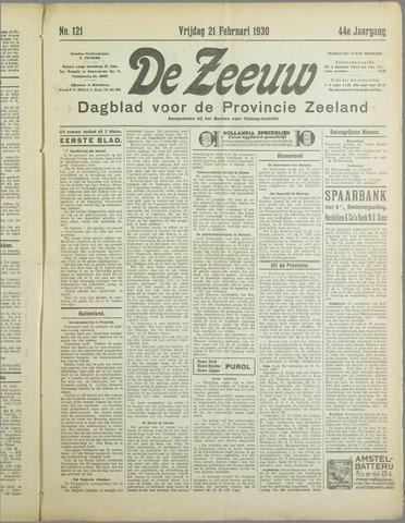 De Zeeuw. Christelijk-historisch nieuwsblad voor Zeeland 1930-02-21