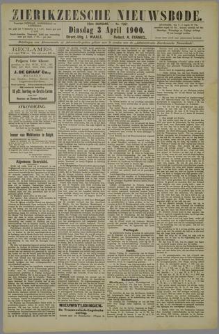 Zierikzeesche Nieuwsbode 1900-04-03