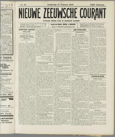 Nieuwe Zeeuwsche Courant 1909-02-25
