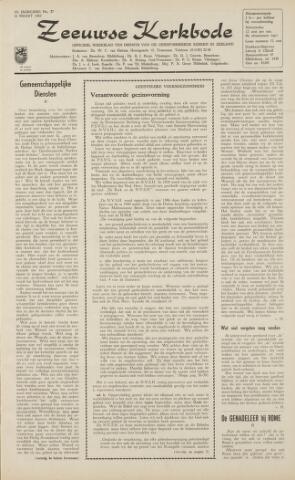 Zeeuwsche kerkbode, weekblad gewijd aan de belangen der gereformeerde kerken/ Zeeuwsch kerkblad 1962-03-16