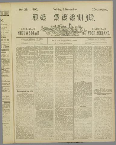 De Zeeuw. Christelijk-historisch nieuwsblad voor Zeeland 1905-11-03