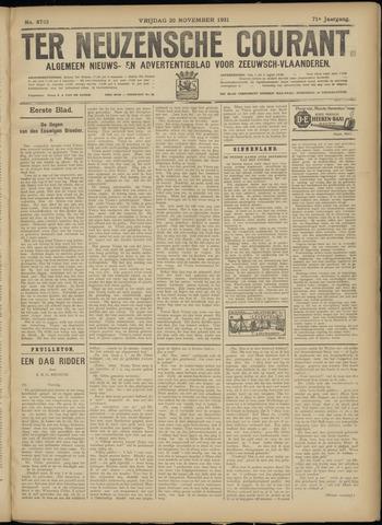 Ter Neuzensche Courant. Algemeen Nieuws- en Advertentieblad voor Zeeuwsch-Vlaanderen / Neuzensche Courant ... (idem) / (Algemeen) nieuws en advertentieblad voor Zeeuwsch-Vlaanderen 1931-11-20