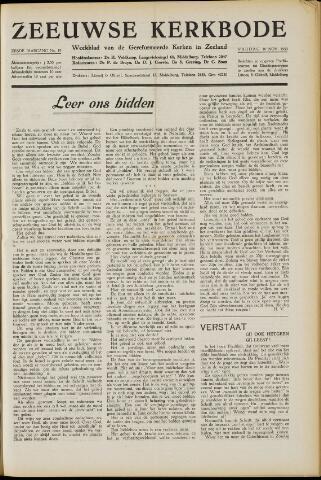 Zeeuwsche kerkbode, weekblad gewijd aan de belangen der gereformeerde kerken/ Zeeuwsch kerkblad 1950-11-10