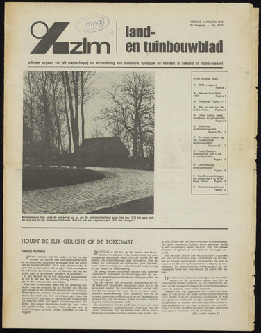Zeeuwsch landbouwblad ... ZLM land- en tuinbouwblad 1973-01-05