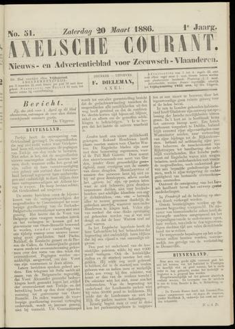 Axelsche Courant 1886-03-20