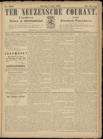 Ter Neuzensche Courant. Algemeen Nieuws- en Advertentieblad voor Zeeuwsch-Vlaanderen / Neuzensche Courant ... (idem) / (Algemeen) nieuws en advertentieblad voor Zeeuwsch-Vlaanderen 1898-04-05