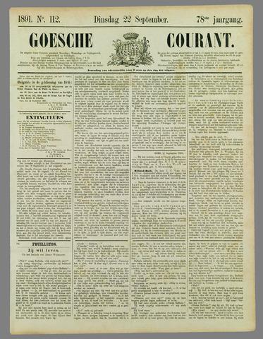 Goessche Courant 1891-09-22
