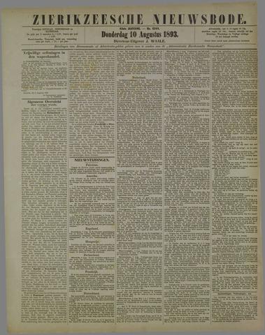 Zierikzeesche Nieuwsbode 1893-08-10