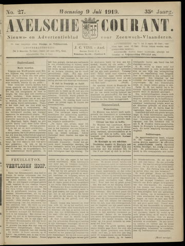 Axelsche Courant 1919-07-09