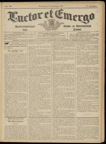 Luctor et Emergo. Antirevolutionair nieuws- en advertentieblad voor Zeeland / Zeeuwsch-Vlaanderen. Orgaan ter verspreiding van de christelijke beginselen in Zeeuwsch-Vlaanderen 1912-02-28