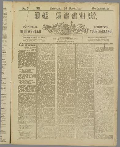 De Zeeuw. Christelijk-historisch nieuwsblad voor Zeeland 1911-12-30