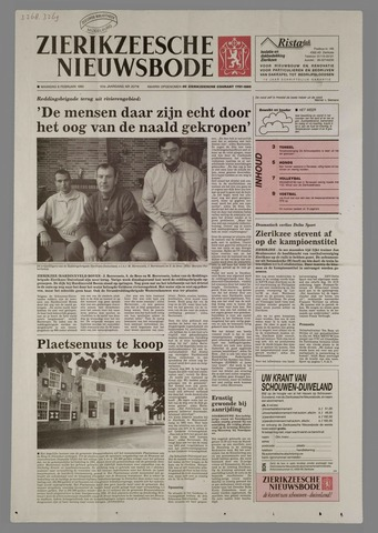 Zierikzeesche Nieuwsbode 1995-02-06