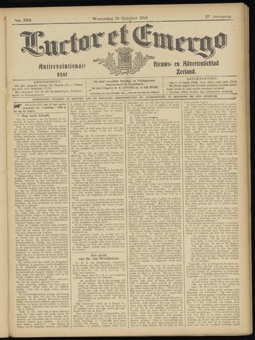 Luctor et Emergo. Antirevolutionair nieuws- en advertentieblad voor Zeeland / Zeeuwsch-Vlaanderen. Orgaan ter verspreiding van de christelijke beginselen in Zeeuwsch-Vlaanderen 1914-10-14