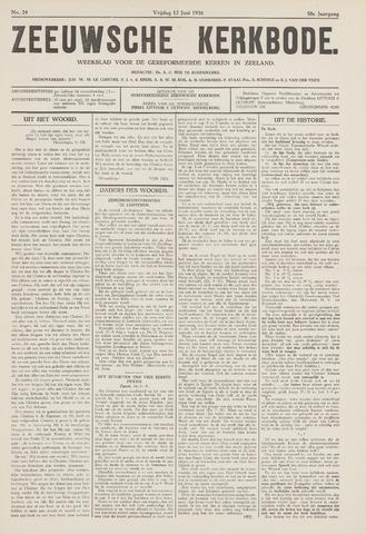 Zeeuwsche kerkbode, weekblad gewijd aan de belangen der gereformeerde kerken/ Zeeuwsch kerkblad 1936-06-12
