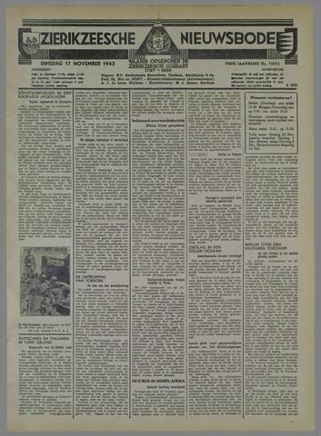 Zierikzeesche Nieuwsbode 1942-11-17