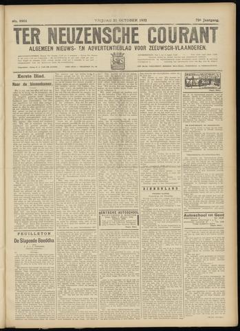Ter Neuzensche Courant. Algemeen Nieuws- en Advertentieblad voor Zeeuwsch-Vlaanderen / Neuzensche Courant ... (idem) / (Algemeen) nieuws en advertentieblad voor Zeeuwsch-Vlaanderen 1932-10-21
