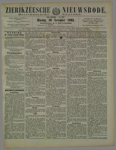 Zierikzeesche Nieuwsbode 1903-11-10