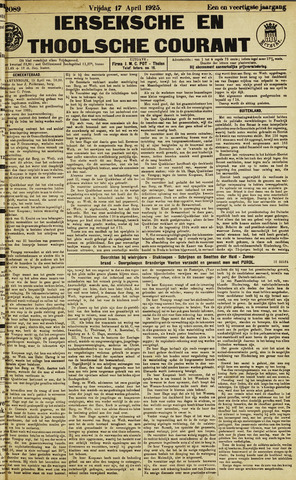Ierseksche en Thoolsche Courant 1925-04-17
