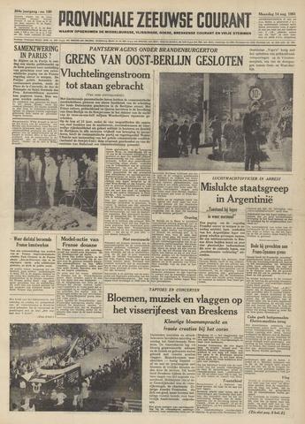Provinciale Zeeuwse Courant 1961-08-14