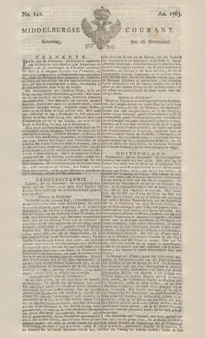 Middelburgsche Courant 1763-11-26