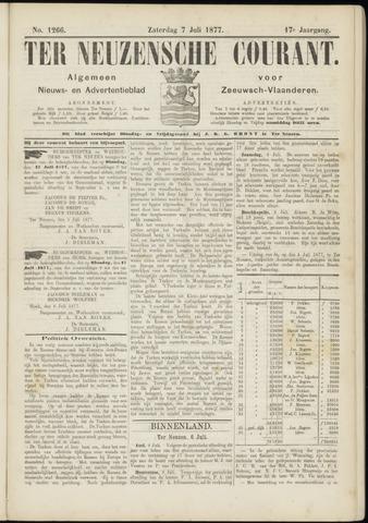 Ter Neuzensche Courant. Algemeen Nieuws- en Advertentieblad voor Zeeuwsch-Vlaanderen / Neuzensche Courant ... (idem) / (Algemeen) nieuws en advertentieblad voor Zeeuwsch-Vlaanderen 1877-07-07