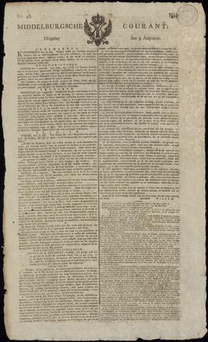 Middelburgsche Courant 1814-08-09