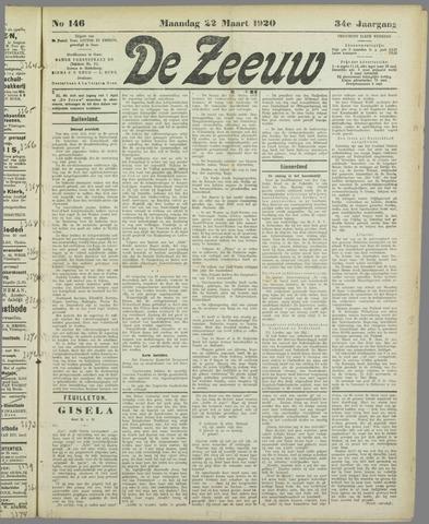 De Zeeuw. Christelijk-historisch nieuwsblad voor Zeeland 1920-03-22