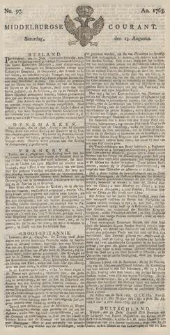 Middelburgsche Courant 1763-08-13