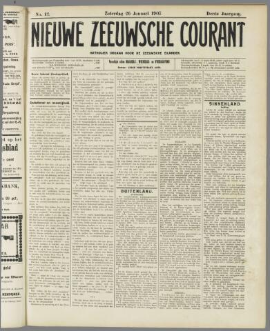 Nieuwe Zeeuwsche Courant 1907-01-26