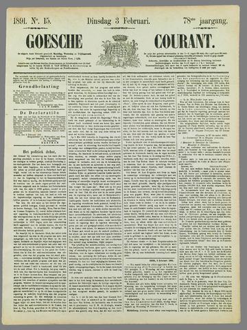 Goessche Courant 1891-02-03