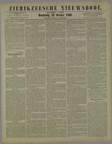 Zierikzeesche Nieuwsbode 1891-10-22