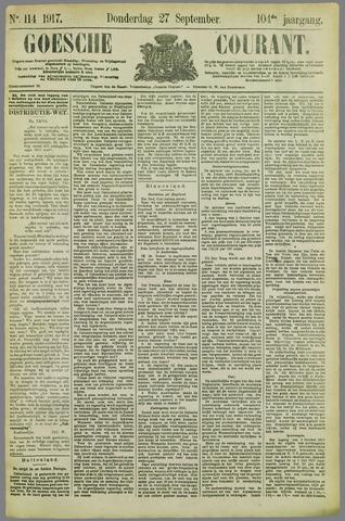 Goessche Courant 1917-09-27