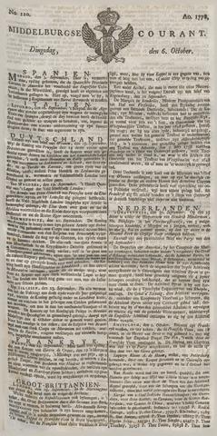 Middelburgsche Courant 1778-10-06