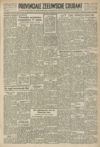 Provinciale Zeeuwse Courant 1946-06-04
