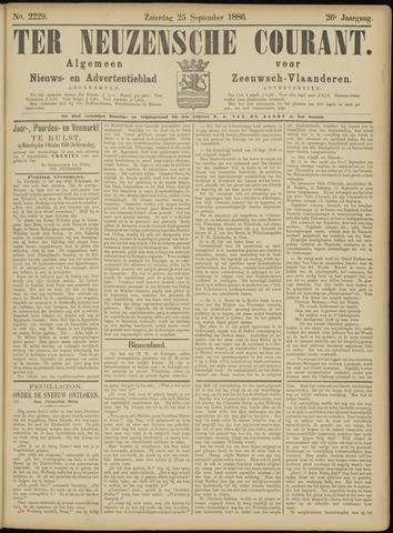 Ter Neuzensche Courant. Algemeen Nieuws- en Advertentieblad voor Zeeuwsch-Vlaanderen / Neuzensche Courant ... (idem) / (Algemeen) nieuws en advertentieblad voor Zeeuwsch-Vlaanderen 1886-09-25