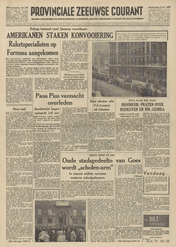 Provinciale Zeeuwse Courant 1958-10-09