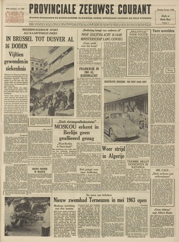 Provinciale Zeeuwse Courant 1962-09-18