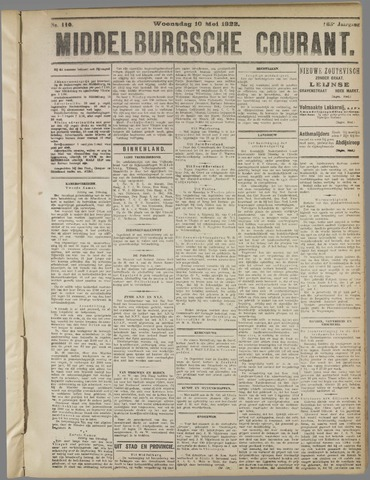 Middelburgsche Courant 1922-05-10