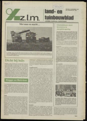 Zeeuwsch landbouwblad ... ZLM land- en tuinbouwblad 1981-11-13