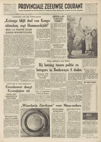 Provinciale Zeeuwse Courant 1960-07-27