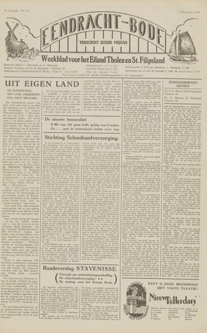 Eendrachtbode (1945-heden)/Mededeelingenblad voor het eiland Tholen (1944/45) 1949-11-04