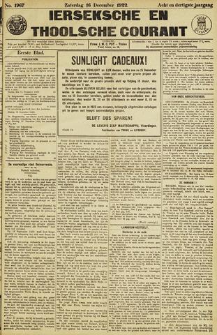 Ierseksche en Thoolsche Courant 1922-12-16