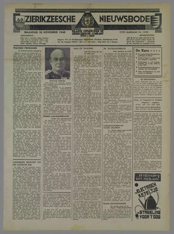 Zierikzeesche Nieuwsbode 1940-11-18