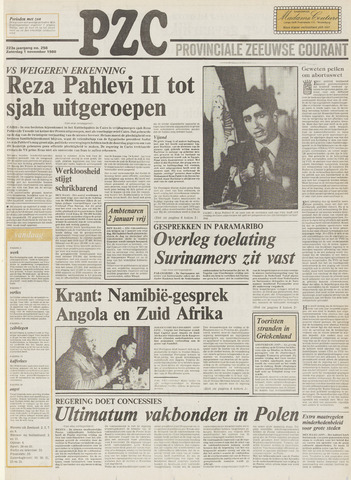 Provinciale Zeeuwse Courant 1980-11-01