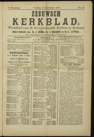 Zeeuwsche kerkbode, weekblad gewijd aan de belangen der gereformeerde kerken/ Zeeuwsch kerkblad 1903-12-18